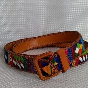 Mexican  material leather belt BOHO